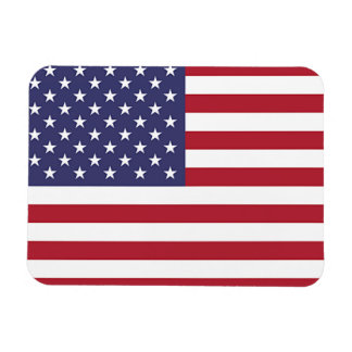 Patriotic flexible photo magnet with flag of USA