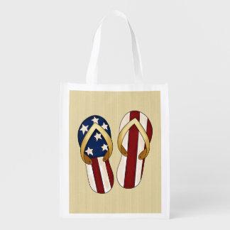 Patriotic Flip Flops Holiday tote bag