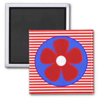patriotic flower square magnet