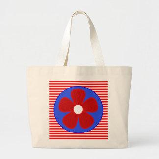 patriotic flower jumbo tote bag