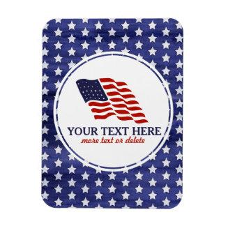 Patriotic Fourth of July American USA Flag Custom Rectangular Photo Magnet