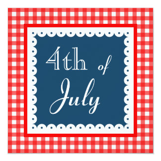 Patriotic Fourth Of July BBQ Picnic Invitations