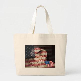 Patriotic Fred Canvas Bags