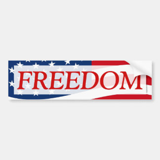 Patriotic Freedom American Flag Decal Bumper Sticker