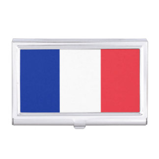 Patriotic French Flag Business Card Holder