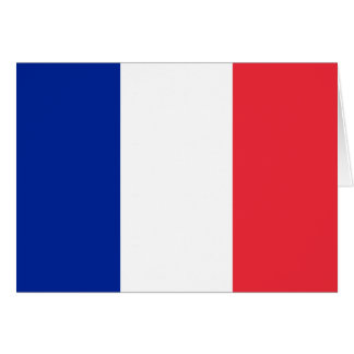 Patriotic French Flag Card