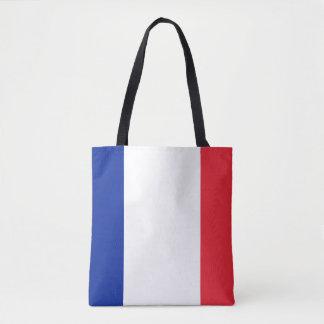 Patriotic French Flag Tote Bag