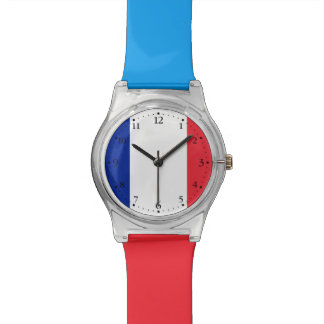 Patriotic French Flag Wrist Watches