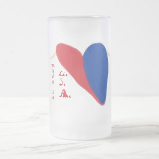 Patriotic Frosted Glass Mug