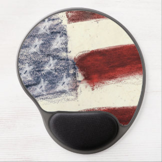 Patriotic Gel Mouse Pad with American Flag Gel Mouse Mat