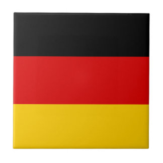 Patriotic German Flag Ceramic Tile