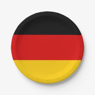 Patriotic German Flag Paper Plate
