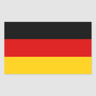 Patriotic German Flag Rectangular Sticker