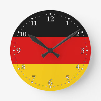 Patriotic German Flag Round Clock