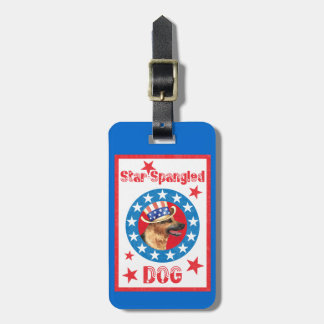 Patriotic German Shepherd Luggage Tag