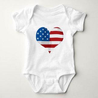 Patriotic Gift Hearts Baby Bodysuit