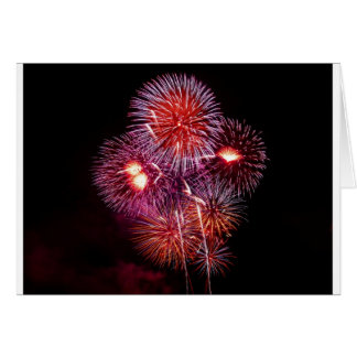 Patriotic Gifts Fireworks from the 4th of July Greeting Card