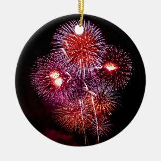 Patriotic Gifts Fireworks from the 4th of July Ceramic Ornament