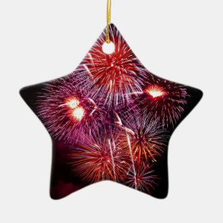 Patriotic Gifts Fireworks from the 4th of July Ceramic Star Decoration