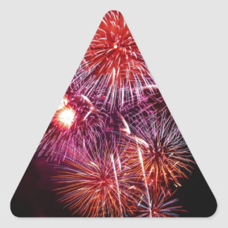 Patriotic Gifts Fireworks from the 4th of July Triangle Sticker