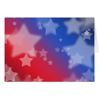 Patriotic Gifts Stars Red White Blue Greeting Card