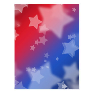 Patriotic Gifts Stars Red White Blue Postcard
