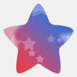 Patriotic Gifts Stars Red White Blue Star Sticker