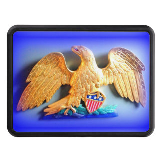 patriotic gold eagle trailer hitch cover