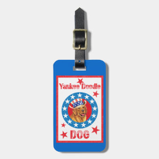 Patriotic Golden Retriever Luggage Tag