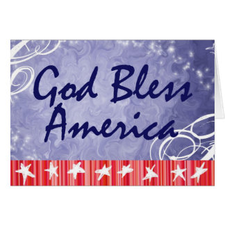 Patriotic Greeting Cards- God Bless America Card