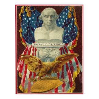 Patriotic Greetings Postcard