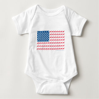 Patriotic Greyhound Dog Baby Bodysuit