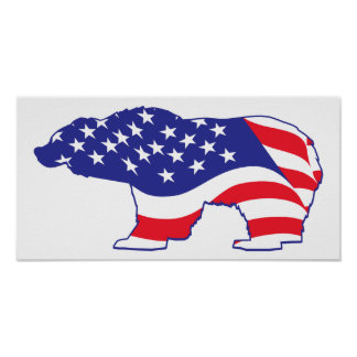 Patriotic-Grizzly Poster