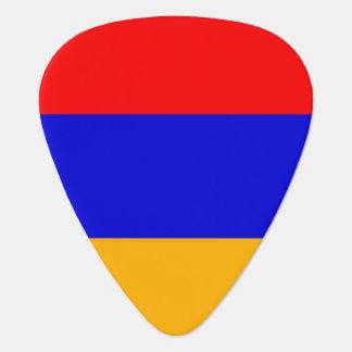 Patriotic guitar pick with Flag of Armenia
