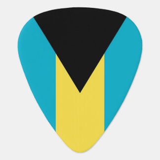 Patriotic guitar pick with Flag of Bahamas