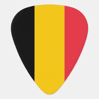 Patriotic guitar pick with Flag of Belgium