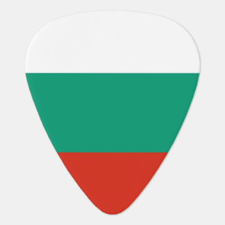 Patriotic guitar pick with Flag of Bulgaria