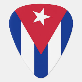 Patriotic guitar pick with Flag of Cuba