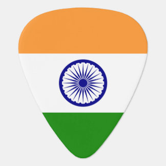 Patriotic guitar pick with Flag of India