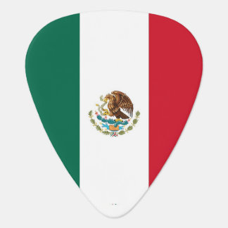 Patriotic guitar pick with Flag of Mexico