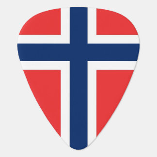 Patriotic guitar pick with Flag of Norway