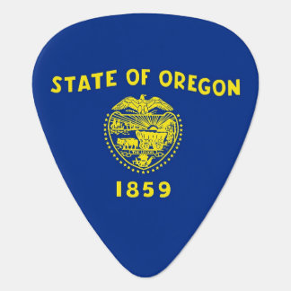 Patriotic guitar pick with Flag of Oregon State