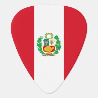 Patriotic guitar pick with Flag of Peru
