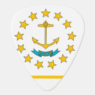 Patriotic guitar pick with Flag of Rhode Island