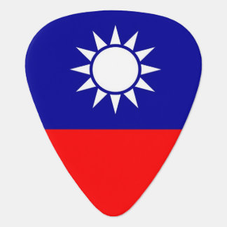 Patriotic guitar pick with Flag of Taiwan