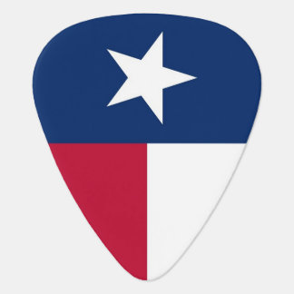 Patriotic guitar pick with Flag of Texas
