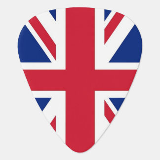 Patriotic guitar pick with Flag of United Kingdom