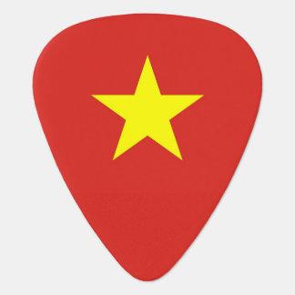 Patriotic guitar pick with Flag of Vietnam