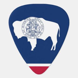 Patriotic guitar pick with Flag of Wyoming