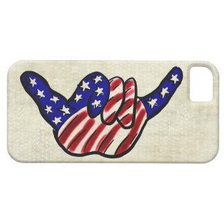 Patriotic hang loose stars stripes iphone 5 case
